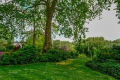 Jardin anglais de pays au printemps Photographie stock