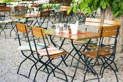 Jardin bavarois de bière Photos libres de droits