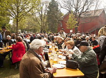 Jardin bavarois de bière Photo libre de droits