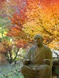 Jardin bouddhiste en automne Images libres de droits