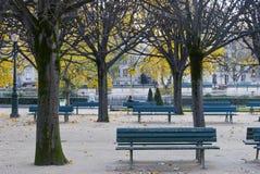 Jardin carré de Jean XXIII, Paris Image libre de droits