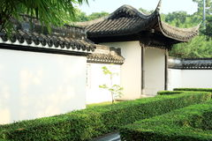 Jardin chinois, architecture chinoise Photographie stock