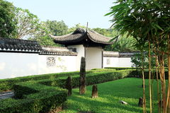 Jardin chinois, architecture chinoise Photographie stock libre de droits