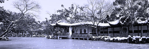 Jardin chinois classique Image libre de droits