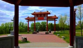 Jardin chinois d'Edmonton une oasis de calme image libre de droits