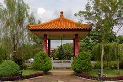 Jardin chinois dans un temple Photo libre de droits