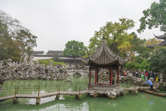 Jardin chinois de jardin de rocaille Photos libres de droits