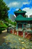 Jardin chinois de zen avec la pagoda photographie stock libre de droits