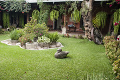 Jardin colonial espagnol Photographie stock