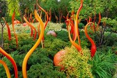 Jardin coloré de verre Photos stock