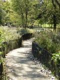Jardin communal dans l'automne Images stock