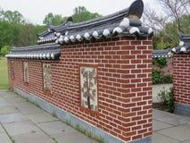 Jardin coréen de Vienne Bell le mur décoré 2016 images libres de droits