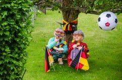 Jardin décoré pour le championnat du football Photos stock