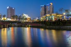 Jardin d'érable dans la ville de taichung photo stock