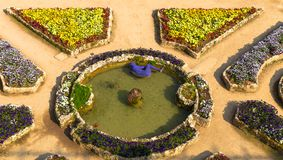 Jardin d'agrément de villa de Rufolo dans Ravello, Campanie, Italie image stock