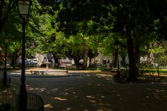 Jardin d'Amoreiras à Lisbonne Image stock