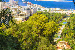 Jardin d'essais, Algiers. The view of Algiers from the sea, Algeria stock photography