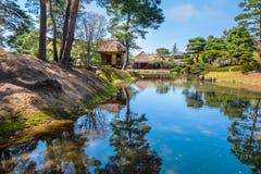 Jardin d'herbes aromatiques médicinal d'Oyakuen dans Aizuwakamatsu, Fukushima, Japon photo stock