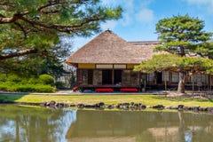 Jardin d'herbes aromatiques médicinal d'Oyakuen dans Aizuwakamatsu, Fukushima, Japon images libres de droits