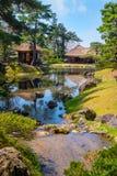 Jardin d'herbes aromatiques médicinal d'Oyakuen dans Aizuwakamatsu, Fukushima, Japon images stock