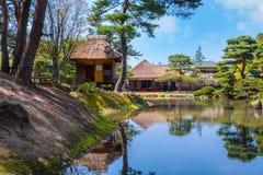 Jardin d'herbes aromatiques médicinal d'Oyakuen dans Aizuwakamatsu, Fukushima, Japon image stock