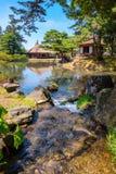 Jardin d'herbes aromatiques médicinal d'Oyakuen dans la ville d'Aizuwakamatsu, Fukushima, Japon photo libre de droits