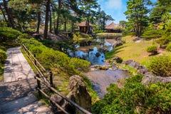 Jardin d'herbes aromatiques médicinal d'Oyakuen dans la ville d'Aizuwakamatsu, Fukushima, Japon photo stock