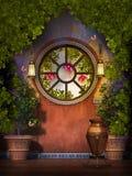 Jardin d'imagination avec le fuchsia Images stock