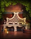 Jardin d'imagination avec le papillon peint Image libre de droits