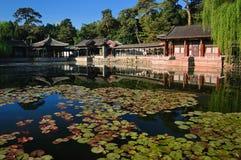 Jardin d'intérêts harmonieux en palais d'été Photographie stock libre de droits