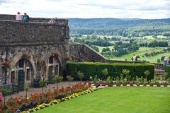 Jardin dans le château Photographie stock libre de droits