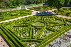 Jardin dans le château Escorial chez San Lorenzo près de Madrid Espagne images libres de droits