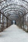 Jardin dans le palais de belvédère de Vienne à l'hiver photographie stock