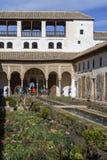 Jardin dans le palais de Generalife à Alhambra photos libres de droits