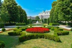 Jardin dans Viena Photos libres de droits