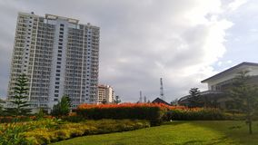 Jardin de bâtiment Photos libres de droits