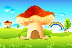 Jardin de champignon de couche Images stock