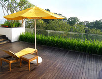 jardin de conception de balcon Images stock