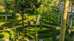 Jardin de couleurs de jardin tropical Thaïlande de Nong Nooch de parc Photos stock