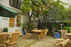 Jardin de cour d'Abbey Road Studios, Londres image libre de droits