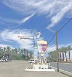 Jardin de date de boucliers, Indio, la Californie Photos stock