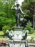 Jardin de Diane, castillo francés de Fontainebleau (Francia) fotos de archivo libres de regalías
