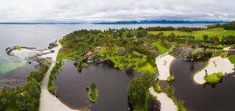 Jardin de Flor et de Flaere, vue aérienne image libre de droits