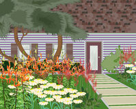 Jardin de floraison Illustration Libre de Droits
