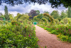 Jardin de Giverny Monet de Frances une journée de printemps image libre de droits