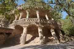 Jardin de Guell de parc à Barcelone, Espagne Photo libre de droits