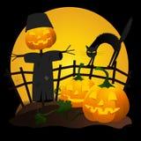 Jardin de Halloween Photographie stock libre de droits