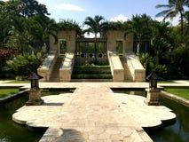 Jardin de Javanese dans une station de vacances d'hôtel de Yogyakarta Image libre de droits