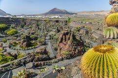 Jardin De Kaktus Lanzarote royaltyfri foto