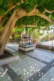 Jardin de l'église des apôtres en Galilée, Israël Photo libre de droits
